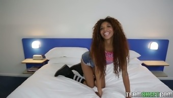 Curly ebony hottie with long legs simultaneously The month of september Reign gives one a wilderness drive