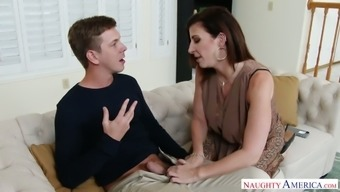 Just slightly innocent dude gets additionally tempted by delightful Sara Jay who might gonna fuck right now