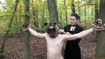 Kitty likes Mistress's game animals - Outside Strap-on Fuck