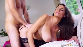 sexy jane gets fucked doggie as her immense genuine tits bounces