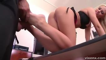 seductive secretary vanda lechery fucks her feet fetishist person-in-charge