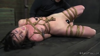 Lovely slavery cowgirl spanked and joshed in BDSM porno