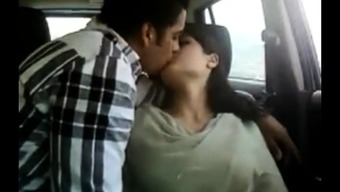 Hot indian couple in car gets wayward