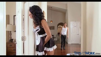 Perverted Maid gets Cock on the Job