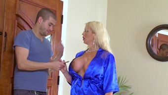Cougar mum fucked while you're in the shower by lucky step youngster
