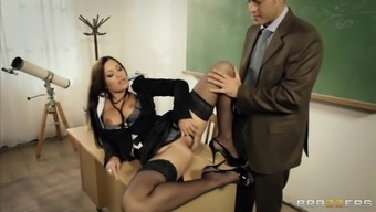 Attractive instructor Angelica Cardiovascular system seduces her co-worker and fucks him