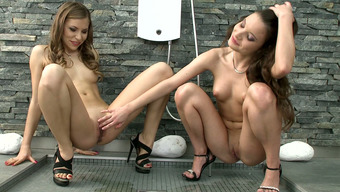 Sweet skinny lesbians Anita B and Candy Absolutely adore complete steaming sex in bedchamber