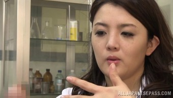 Affecting Japanese health professional rapidly slips in love with the erected dick