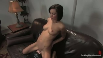Multiple Climaxing for Brunette Ruby Knox Fucked by several Equipment