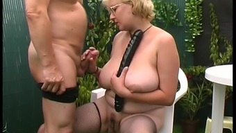 Dutch granny accesses the backyard so that you can get definitely lively generally there
