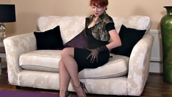 Blonde Mothers With Stockings In Alone Act