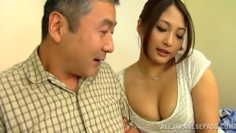 Aoi Miyama fingering her pussy throughout the community shuttle in stockings