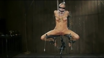 Bondage exorcism via fuckmachine
