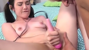 Older mankind pops fresh restricted pussy of delightful pigtailed gal Jenna Reid