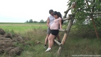 Gorgeous pregnant date is naughty as hell and demands to actually fuck outdoor