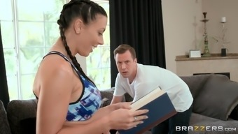 Rachel Starr serves as a brunette along with a nice ass who might likes cycling a dong