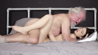 Grandpa fucks stunning younger youngster pussy verbal creampie