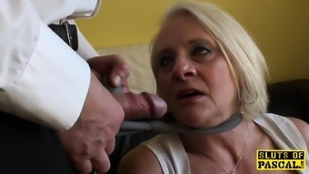 Bigtitted britain gran gets difficult control