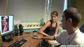 Naughty gal is fucked as her partner wrist watches