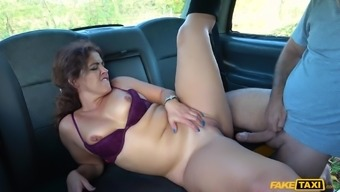 For lovely brunette the car fucking is favorite sex sport