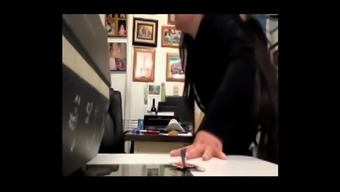 LATINA TEACHER RECORDS HER DAILY MEETING WITH THE PRINCIPAL