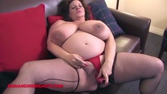 Pregnant with huge breasts