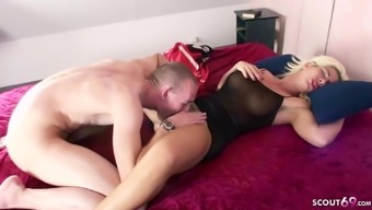 SON wake up German STEP MOM and Seduce her to Fuck